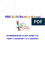 Child Destiny School Intermediates Class Lessons