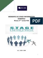 Mémento stage information générale