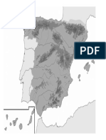 mapa mudo España relieve