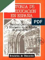 Tomo v. Historia de La Educación en España. Alejandro Mayordomo