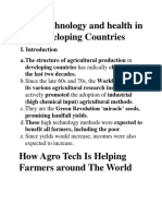 Industry, Agro technology and Health