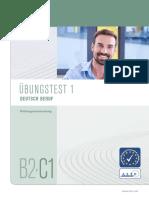 Uebungstest Deutsch b2 c1 Beruf