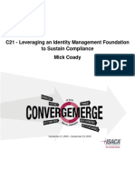 C21 - Leveraging an Identity Management Foundation to Sustain Compliance