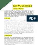 Nutritionist vs Dietitian --Dr Sonia Goel