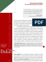 Comunicare Online. PR si Marketing eficient pentru website