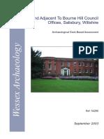 Land Adjacent to Bourne Hill Council Offices Desk Based Assessment