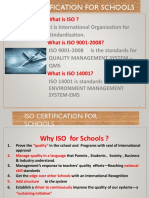 iso certification for schools