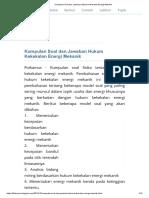 Kumpulan Soal dan Jawaban Hukum Kekekalan Energi Mekanik