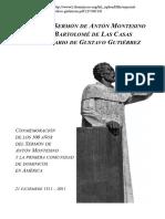 Texto del Sermón de Antón Montesino, según Bartolomé de las Casas y comentario de Gustavo Gutiérrez