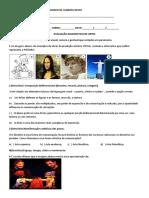 Avaliação diagnostica Artes 6°