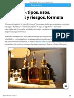 ▷ El Vinagre_ tipos, usos, beneficios y riesgos, fórmula.._