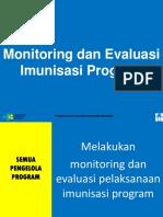 MONITORING DAN  EVALUASI IMUNISASI PROGRAM
