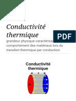 Conductivité thermique — Wikipédia