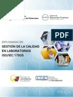 Diplomado en Gestión de la calidad en laboratorios ISO IEC 17025_Año 2020