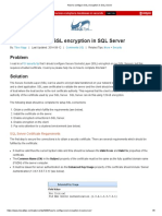 How to configure SSL encryption in SQL Server