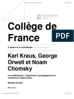 Karl Kraus, George Orwell Et Noam Chomsky