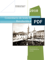 Revolucion de 1854- Comentaio de texto histórico