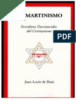 Jean Louis de Biasi - El martinismo