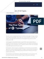 The Five Types of C# Types - Intertech Blog
