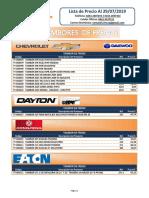 FMC Lista de Precio Julio 29 Tambores Especial