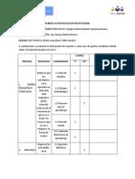 RUBRICA AUTOEVALUACION INSTITUCIONAL