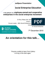 Advancing Social Enterprise Education