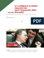 Cómo se configura el delito de usurpación de funciones Casación 956-2016, Áncash.doc