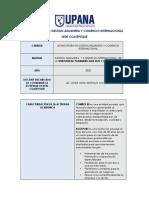 LICENCIATURA EN GESTION ADUANERA Y COMERCIO INTERNACIONAL PLANIFICACIÓN AGEXPORT