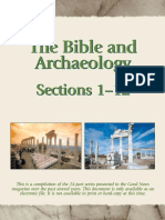 Archeologia Biblica the Bible and Archeology Part One