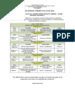 4. Agenda Semanal Febrero 10 Al 14 de 2020