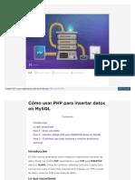 Cómo usar PHP para insertar datos en MySQL