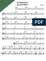 1st Gymnopédie Jazz Lead Sheet