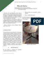 informe laboratorio Mesa de fuerzas
