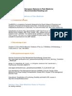 EFIC-European-Pain-Diploma-Reading-List