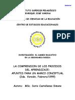 La comprensión de los procesos de aprendizaje (Castellanos)