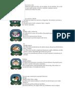 20 nahuales del calendario maya