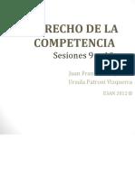 Clases 9 y10 Derecho de la Competencia
