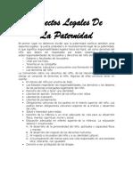 ASPECTOS LEGALES DE LA PATERNIDAD