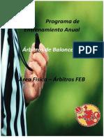 Programa de Entrenamiento Anual. Árbitros de Baloncesto. Área Física Árbitros FEB
