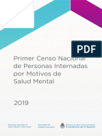 Censo Nacional de Personas Internadas Por Motivos de Salud Mental Argentina