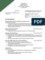 2020 teaching resume