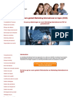 Cours Marketing International Gratuit