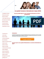 Cours Commerce International Gratuit