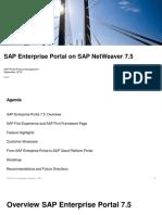 SAP Enterprise Portal on SAP NetWeaver 7.5