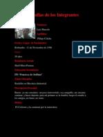 Biografías de los Integrantes