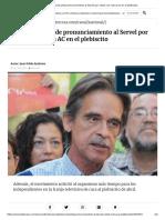 Unidad Social pide pronunciamiento al Servel por votos con marca AC en el plebiscito