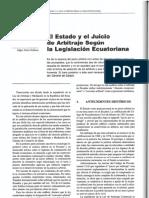 El Estado y el Juicio de Arbitraje Según la Legislación Ecuatoriana