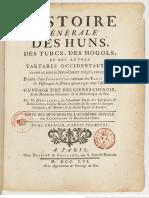 Histoire générale des Huns, des Turcs, des Mongoles et des autres Tartares Occidentaux (Paris 1756-1758)