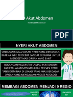 DD Akut Abdomen berdasar regio(0)