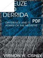 CIsney Deleuze and Derrida Difference and the power of the Negative